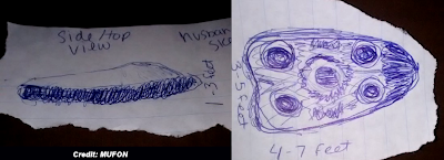 Triangular Shaped UFO Reported 20 Feet Overhead 11-26-14