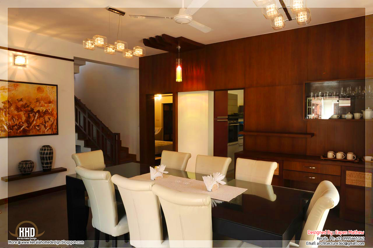 Interior design real photos kerala home design and floor for Home dining hall design