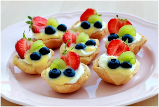Cách làm bánh Tart hoa quả mini mùa hè thật xinh