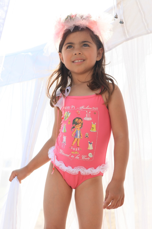 Kids Swimwear. If making family visits to the beach, lake or pool is part of your warm-weather ritual, your children are going to need the proper apparel to make a big splash. Browse the fun, sporty collection of kids' swimwear and aquatic gear for the latest designs in trunks and swimsuits for boys and girls.