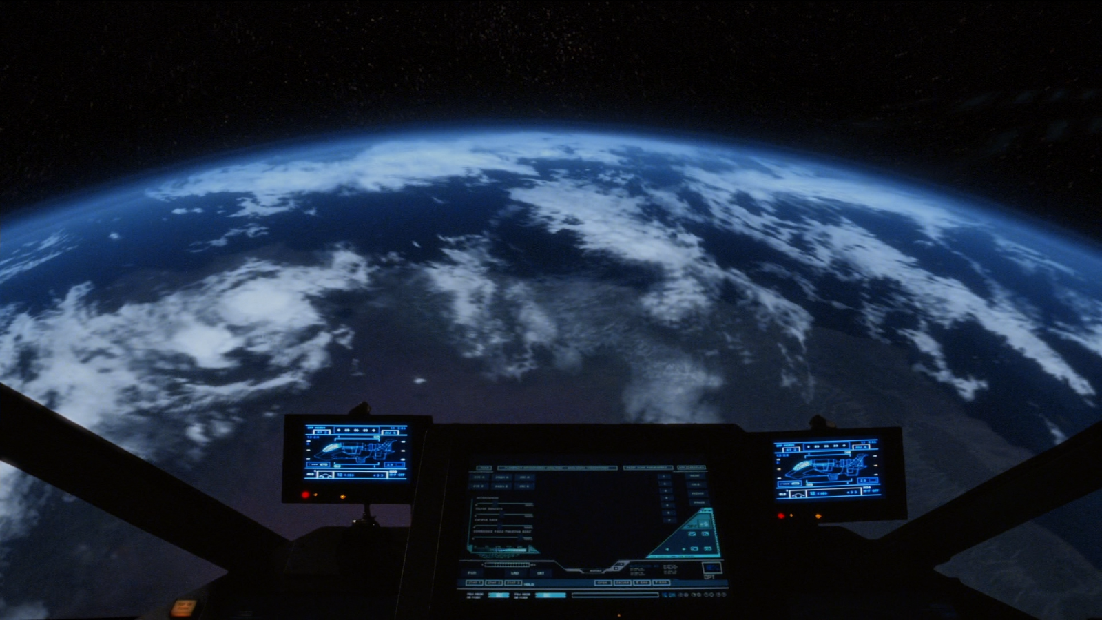 Planet Kobol from the show Battlestar Galactica, as seen in S01E12.