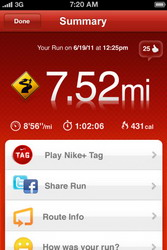 Nike+ GPS app updated with Nike+ Tag, bug fixes