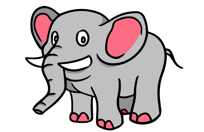 Cartoon Elephant Clip Art Free