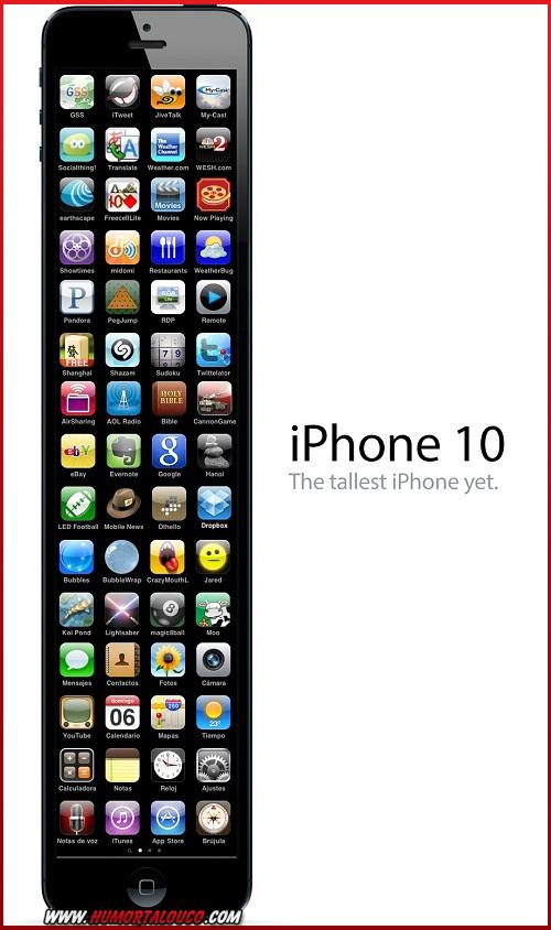 Melhores piadas sobre o iPhone 5 - iPhone tela maior - iPhone 10
