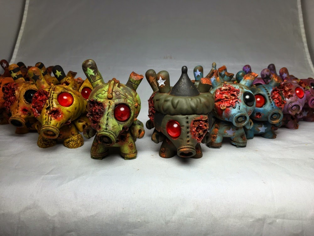 Gasmask Zombie Custom Dunny Blind Box Series by DrilOne