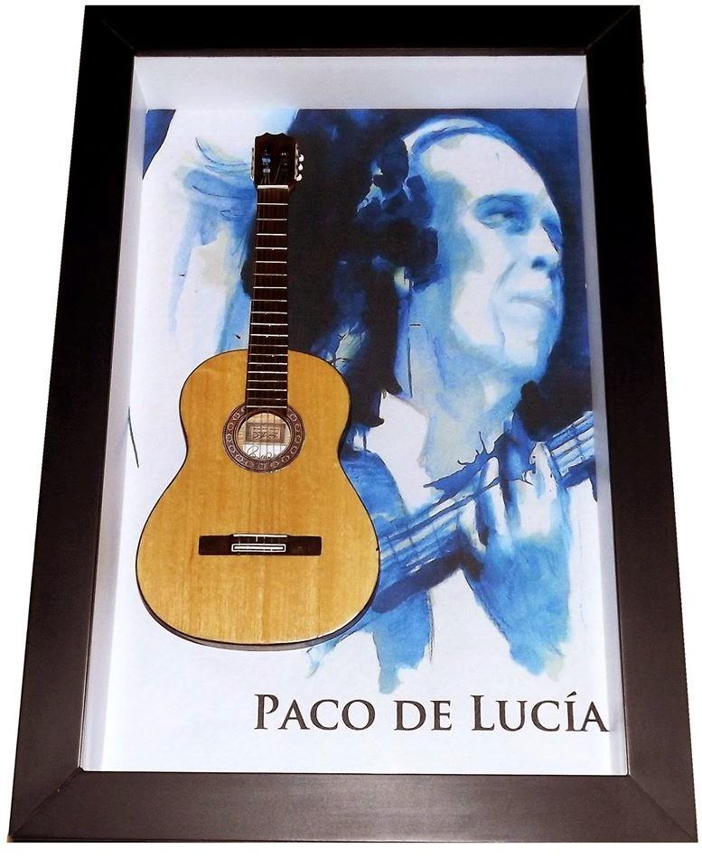 miniatura de violão Paco de Lucia