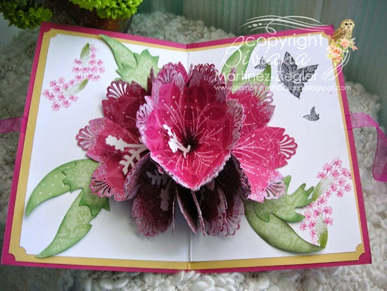 7 petal pop up flower card