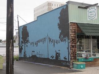 Дом,украшенный граффити