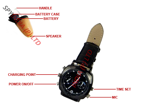 Spy Bluetooth Watch