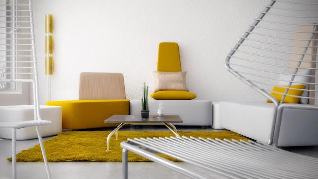 interior dengan aksen warna kuning 2