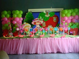 Children Parties, strawberries decoration
