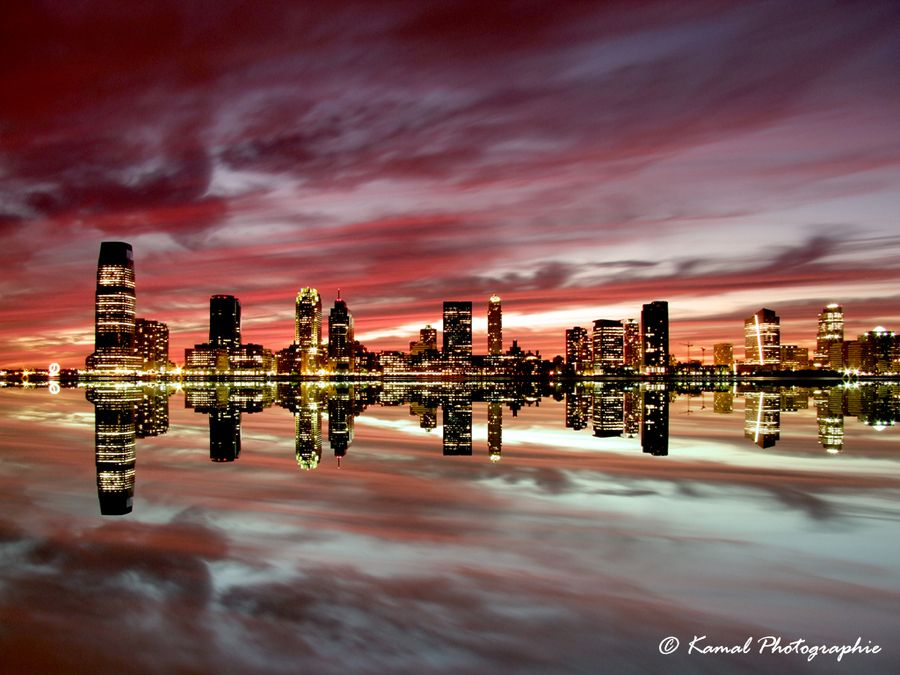 21. NYC Skyline at Sunset by Kamal Photography