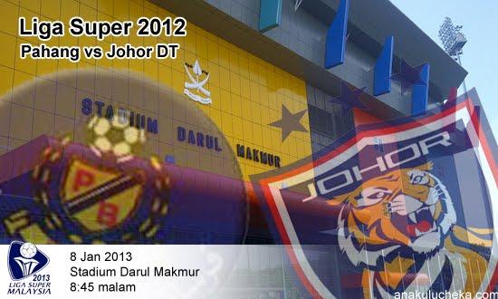 Keputusan Pahang vs Darul Takzim 8 Januari 2013 - Liga Super 2013