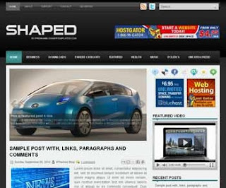 Shaped Blogger Template