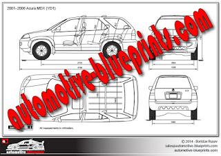 Vector Blueprints - Cars, Trucks, Busses and others: Car-blueprints