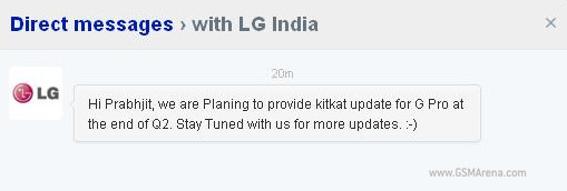 Chat with LG India