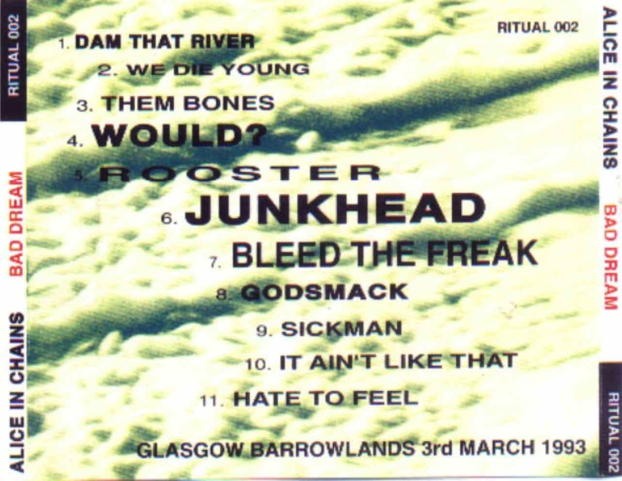 Alice In Chains: Bad Dream. Barrowlands, Glasgow, Scotland - March ...