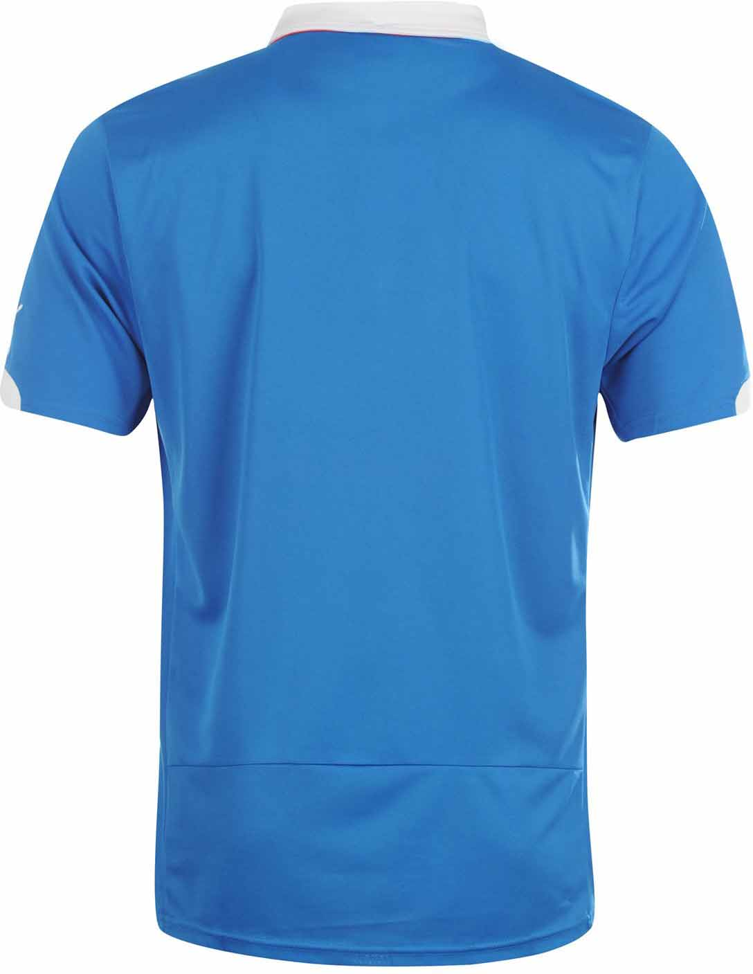 68c048cf4 The new Rangers 14-15 Home Kit is based on a similar template as the Italy  2014 World Cup Home Kit. Puma combines the classical royal blue home color  with ...