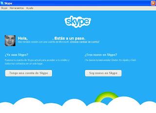 Pregunta si se es nuevo o no en Skype