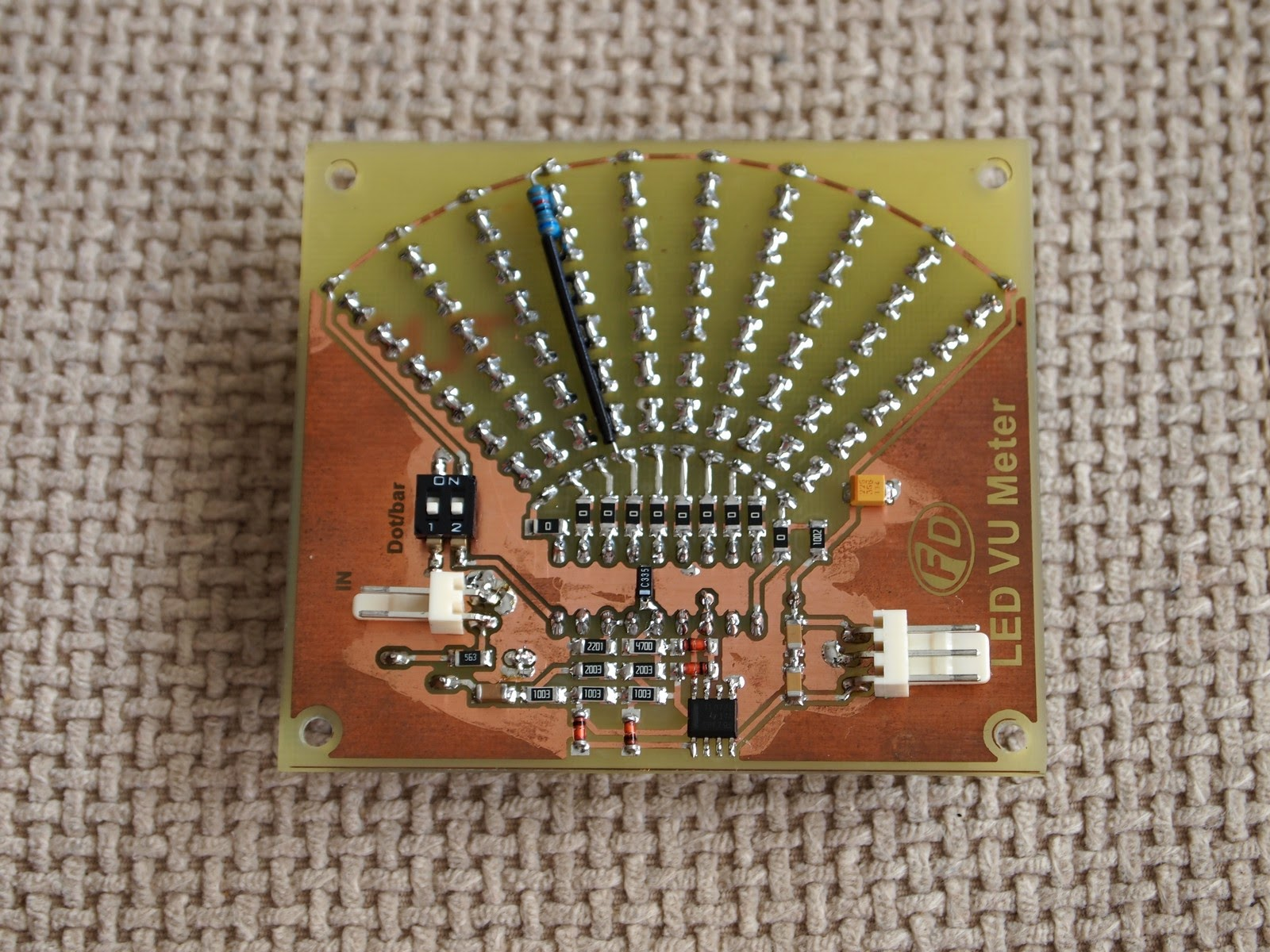 Diyfan Led Vu Meter With Lm3916 1 Short Clip Of The In Action