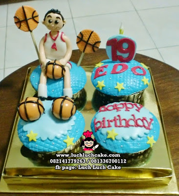 Cupcake Bola Basket Daerah Surabaya - Sidoarjo