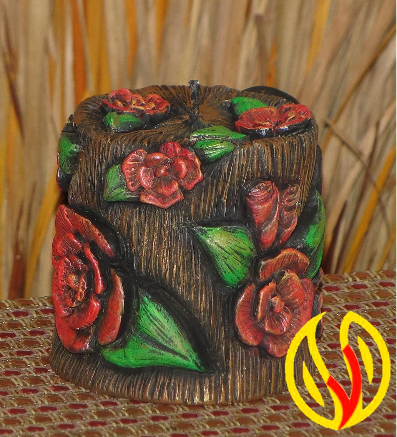 Yleana candles linea floral - Velas talladas ...