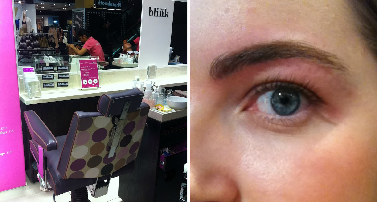 My Blink Brow Bar experience, topshop, review, eyebrows, brows,