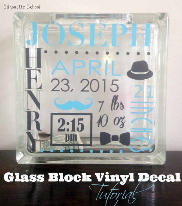 Vinyl Glass Block Tutorial Silhouette School Silhouette School - How to make vinyl decals with silhouette cameo