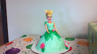 Tinkerbell birthday cake Wilton doll pan