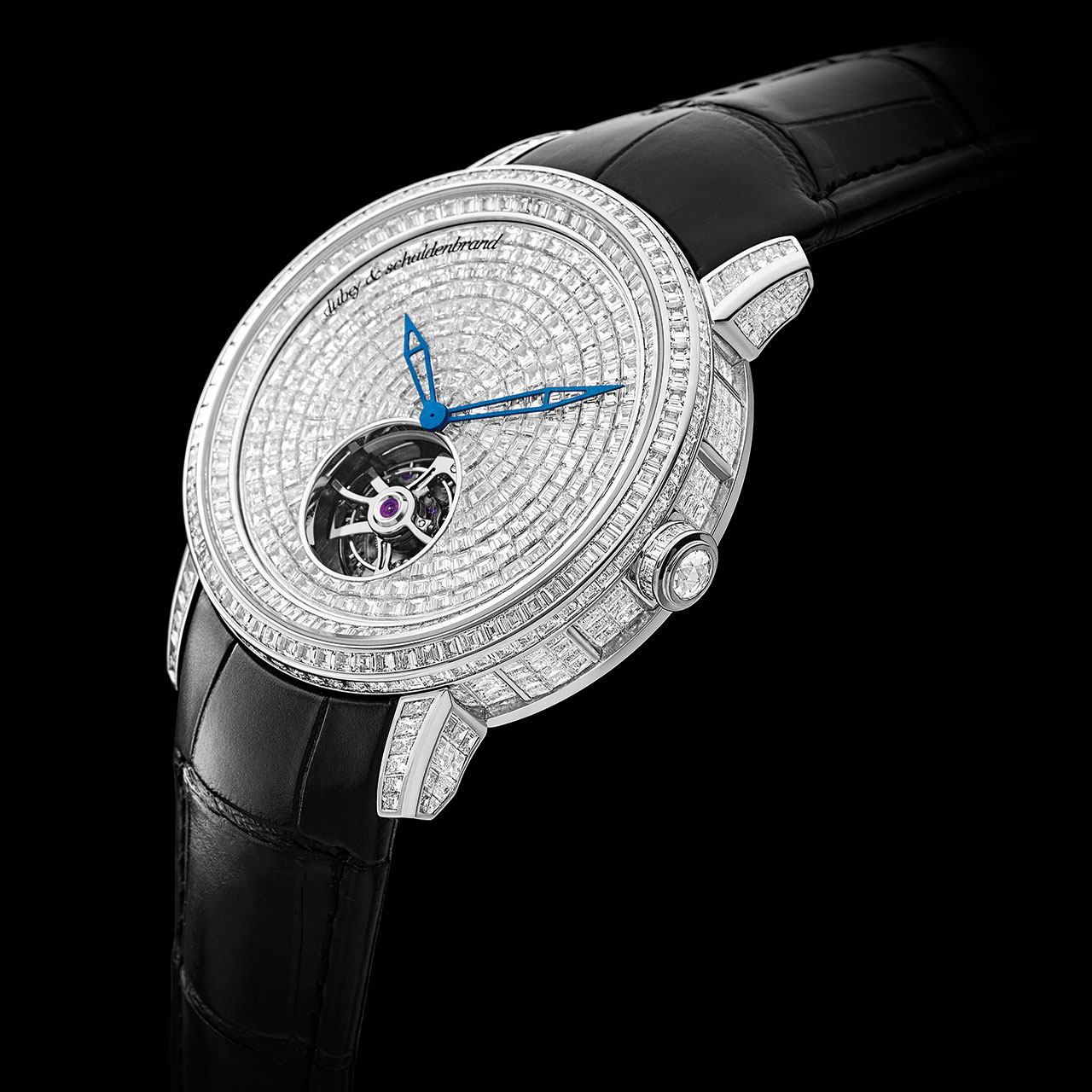 Dubey & Schaldenbrand Cœur Blanc Mechanical Hand-wound Tourbillon Watch