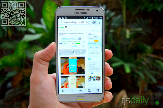 Samsung Galaxy E7 Review Display