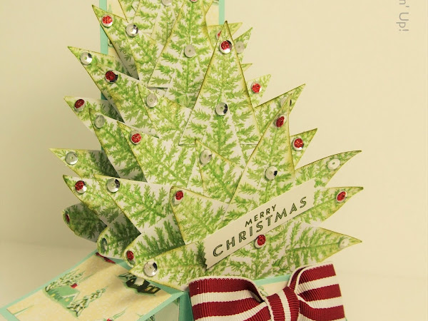 Christmas Tree Card-In-A-Box Tutorial