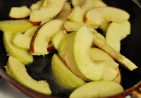 Smother apples in butter to prevent drying during baking.