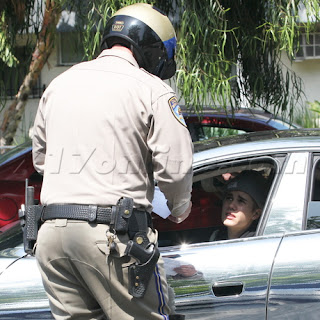 Justin Bieber pulled over by Police - L.A. 2012