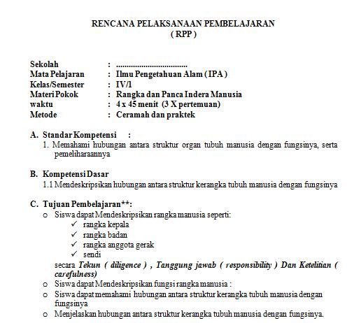 Download RPP Kelas 4 SD Kurikulum KTSP