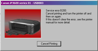 Error B200 Printer Canon IP2770 and MP258