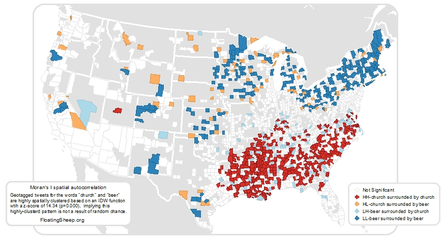 Floatingsheep Church Or Beer Americans On Twitter - Us map of churches