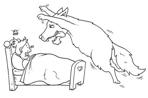 imagens para colorir lobo mau - Desenhos para Colorir da Chapeuzinho Vermelho Lobo