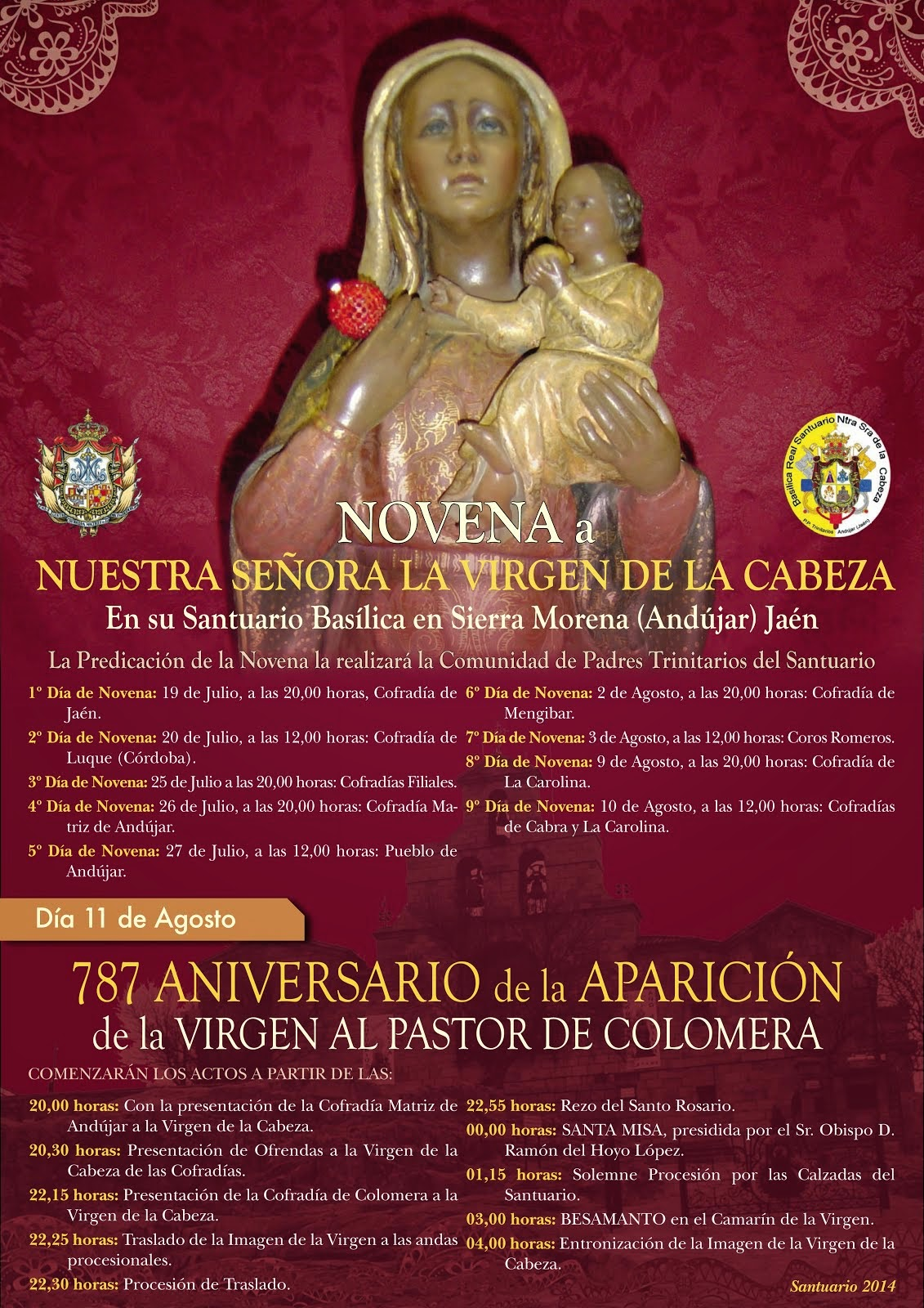 NOVENA Y APARICIÓN 2014