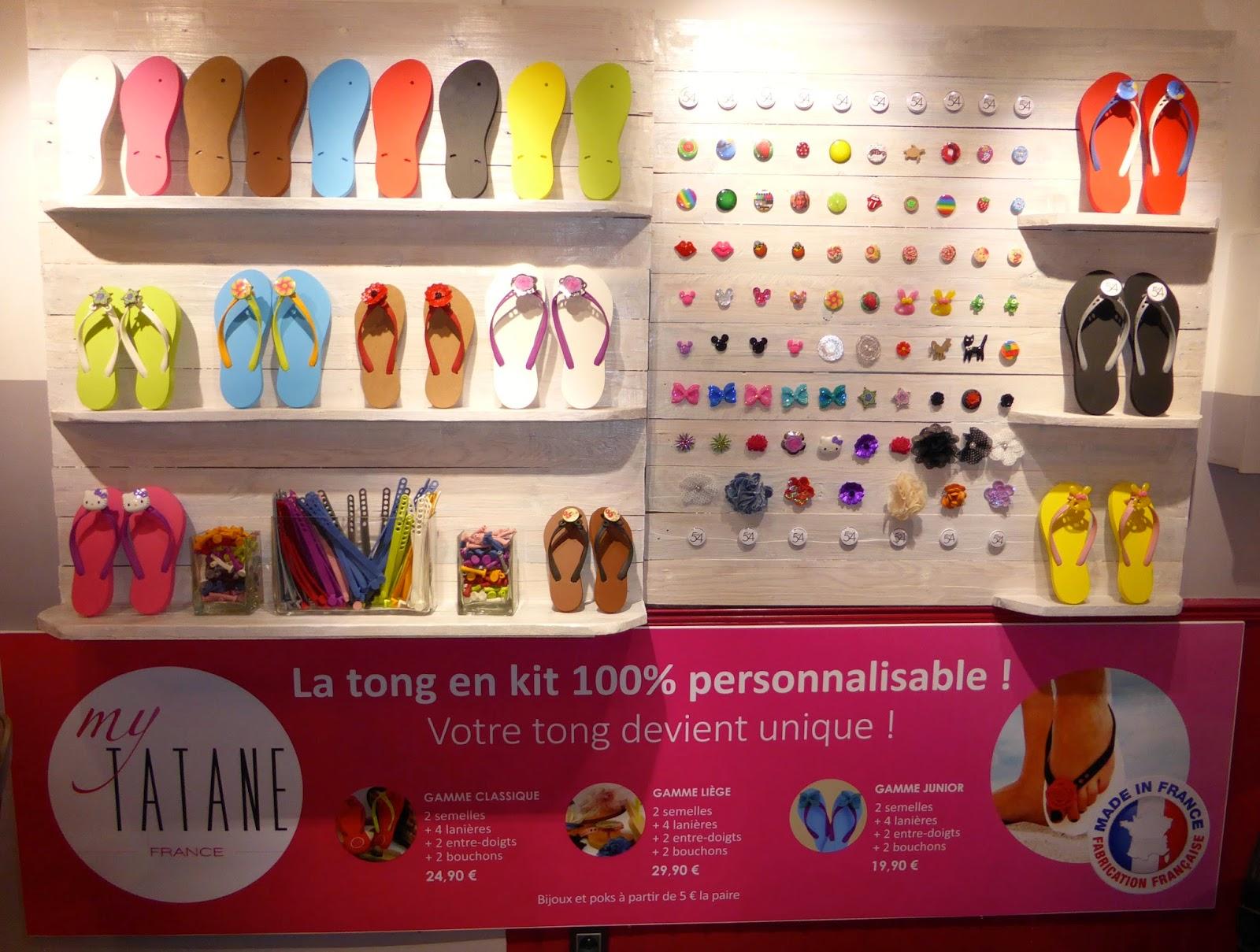 Le Studio 54 devient dépositaire exclusif de la marque My Tatane à Montpellier,  les tongs 100 % personnalisables et 100 % Made in France.