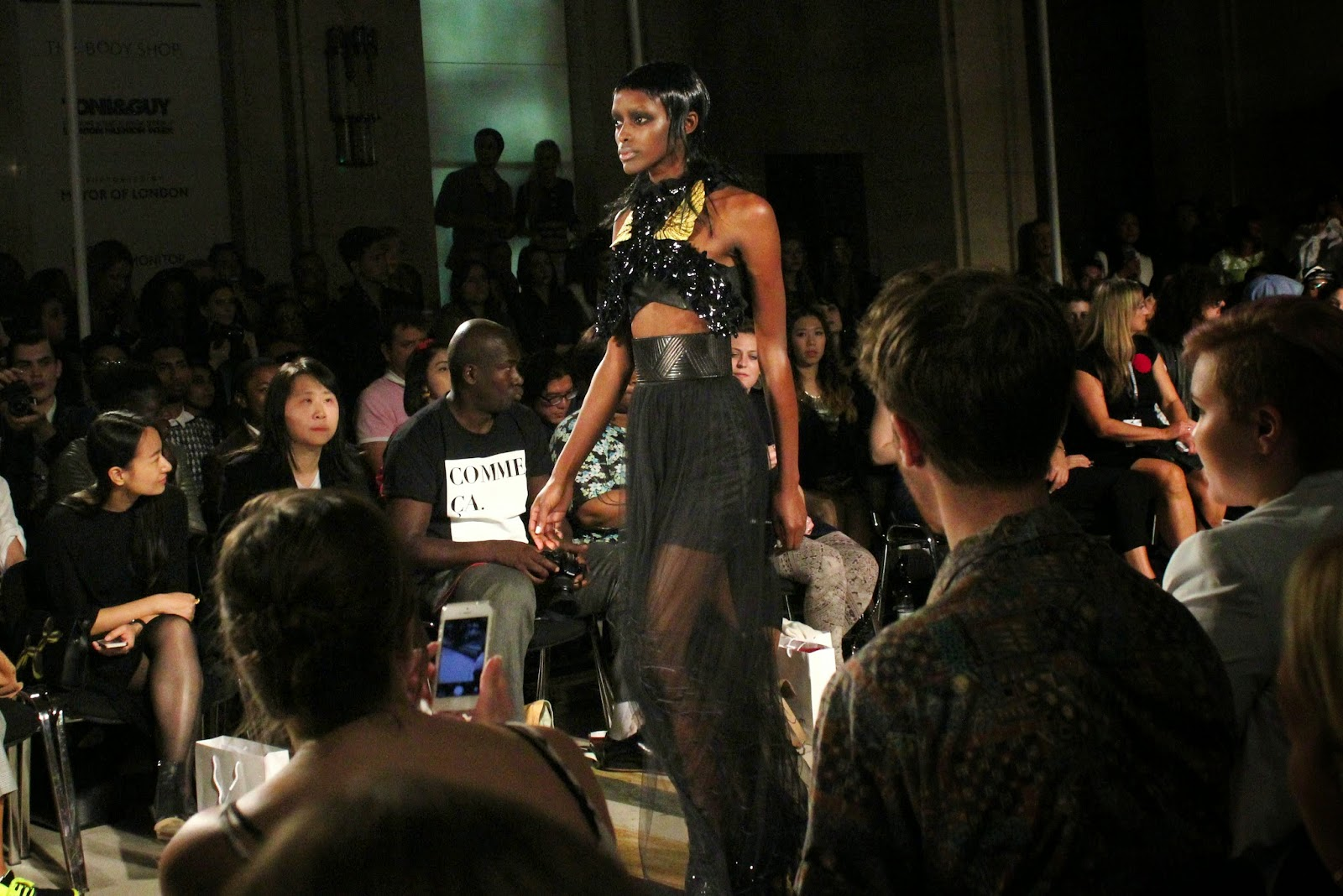 london-fashion-week-2014-lfw-spring-summer-2015-blogger-fashion-Dora-Abodi-catwalk-models-freemasons hall-fashion-scout-top-maxi-skirt-sheer