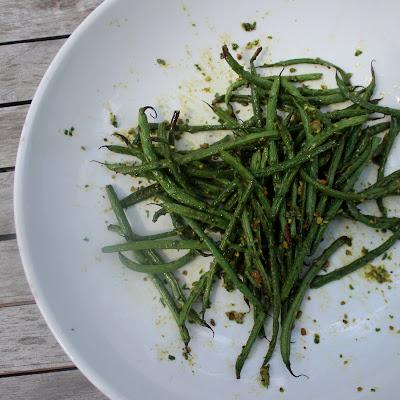 Basil Balsamic Pistachio Green Beans