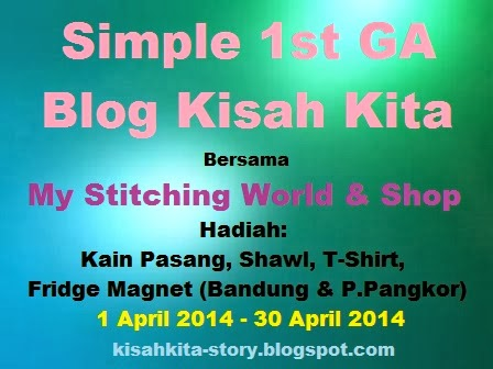 Simple 1st Giveaway Blog Kisah Kita