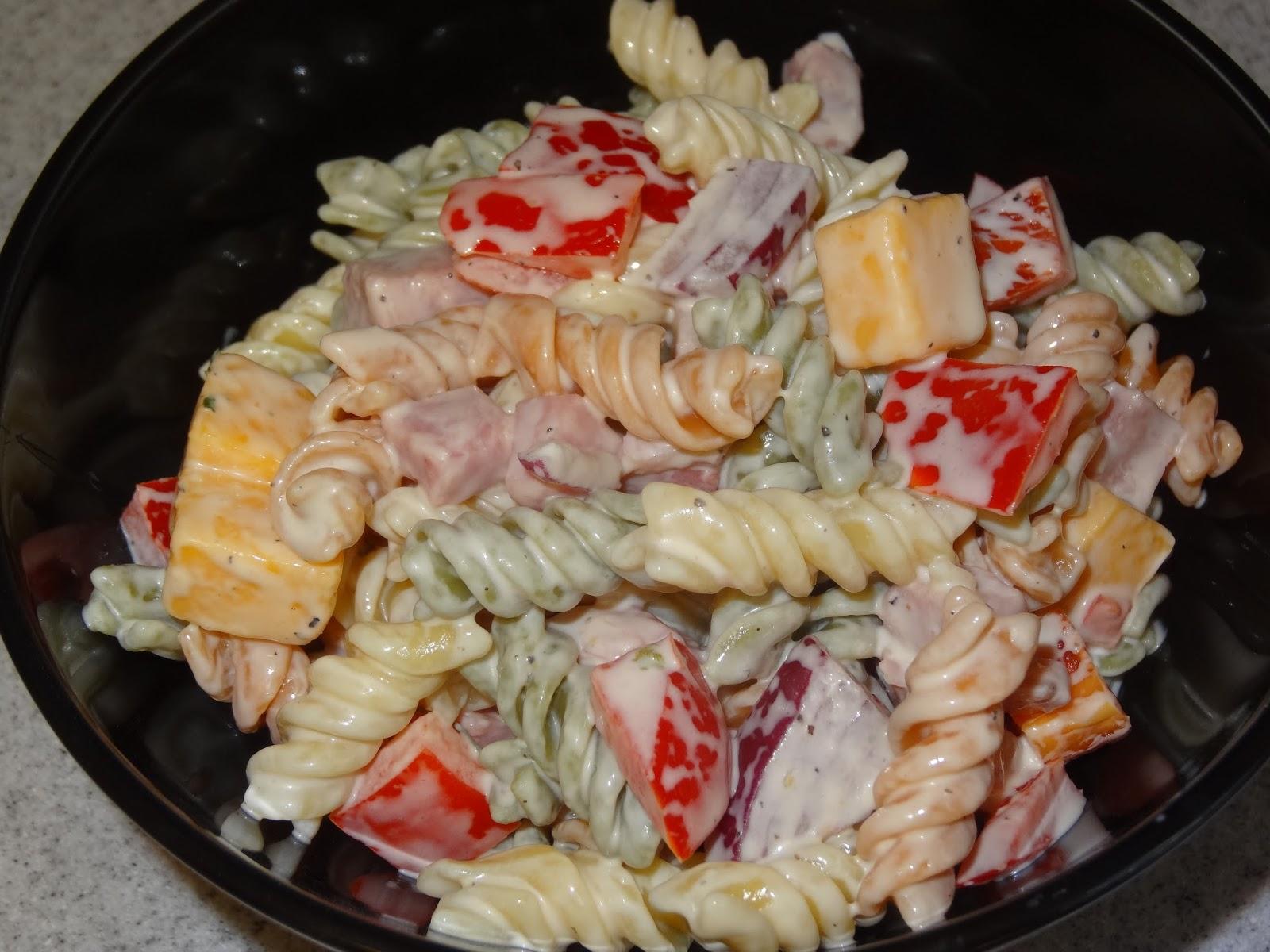 Ham and Cheddar Pasta Salad