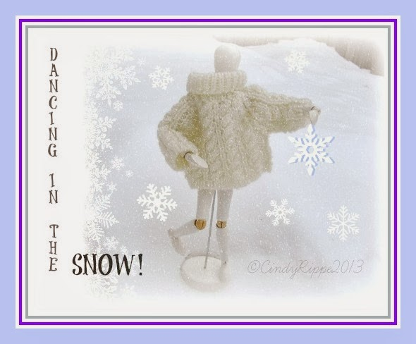 Mannequin Naming contest, Dancing in the Snow, the weekly adventures of my art mannequin, Cindy Rippe