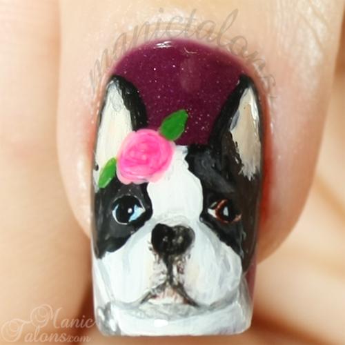 Boston Terrier Nail Art