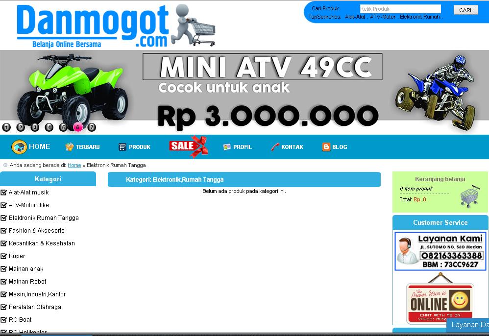 Tampilan situs Danmogot.com Toko Online Murah Terbaik Di Indonesia