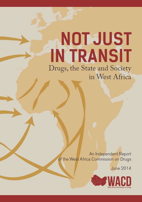 Report cover for West Africa Commission on Drugs June 2014 repor