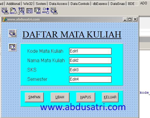 program simpan edit hapus dengan delphi