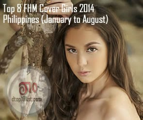 Top 8 FHM Cover Girls 2014 Philippines (January to August)